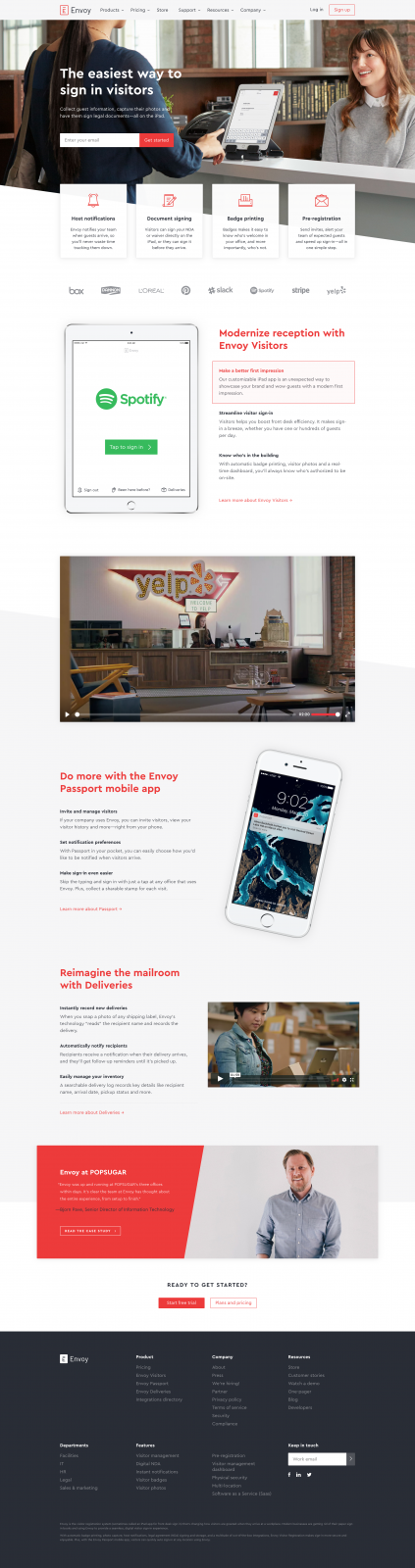 The easiest way to sign in visitors - Envoy