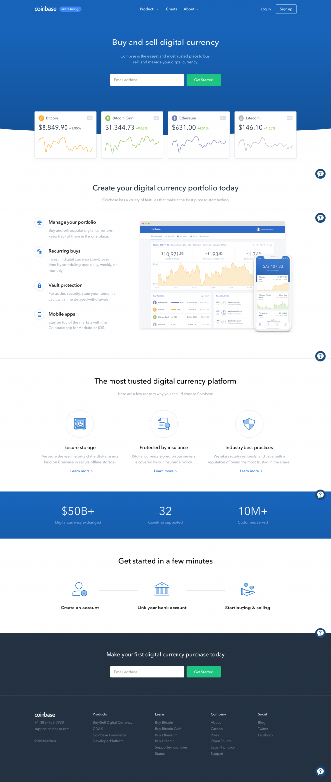 Buy/Sell Digital Currency - Coinbase