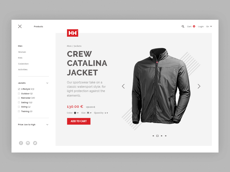 Helly Hansen product page