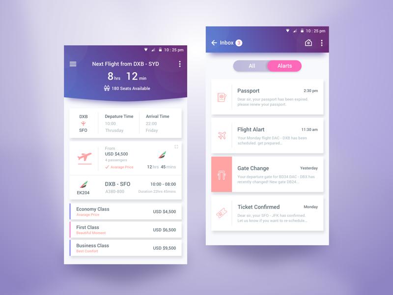 Flight Schedule App by Rifayet Uday - Dribbble
