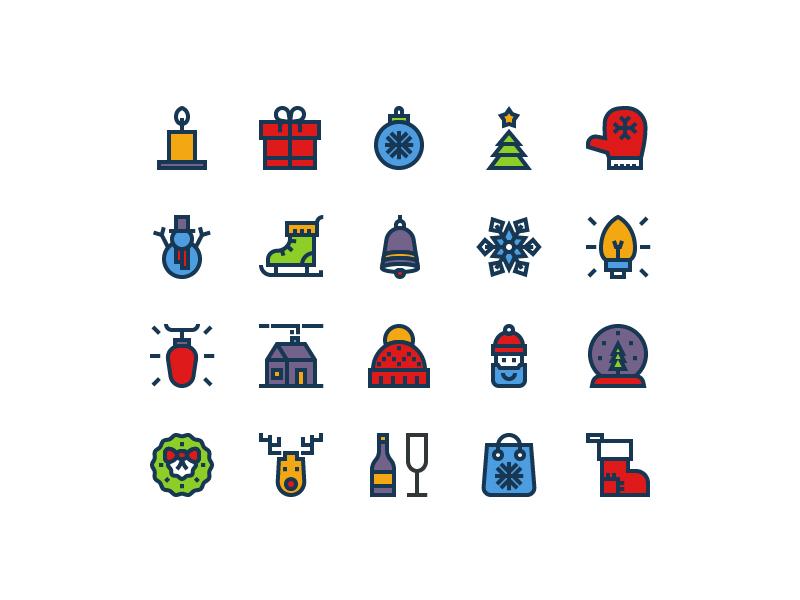 Christmas Icons#3 by Igor Varёnov - Dribbble