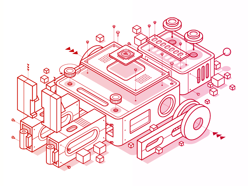 Pluralsight Design System - Robot by Justin Mezzell - Dribbble