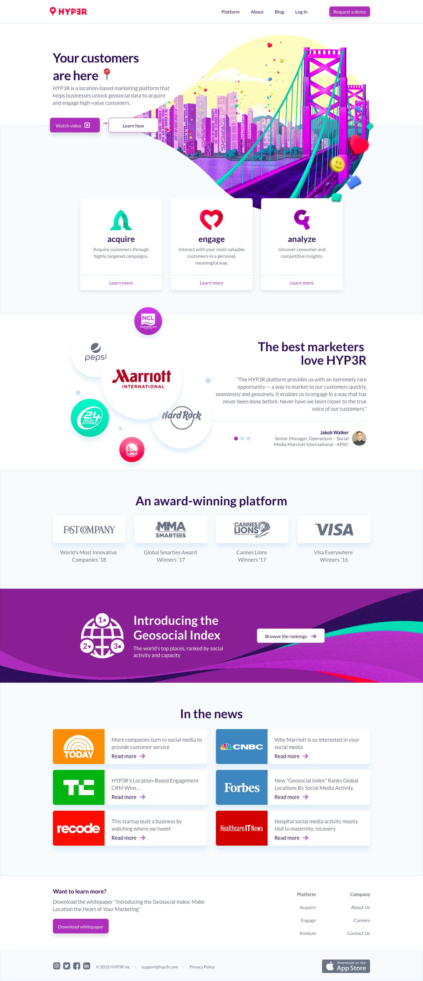 HYP3R: the award-winning, location-based marketing platform