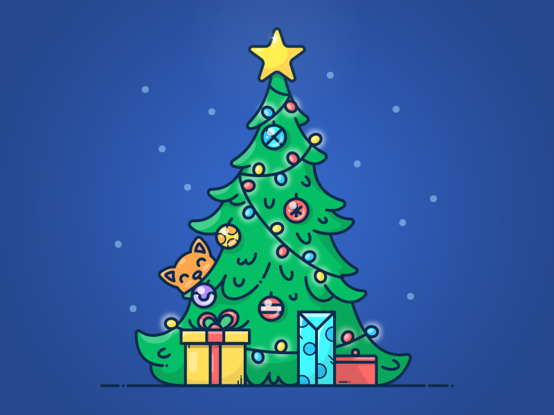 Christmas Tree by Alex Kunchevsky - Dribbble