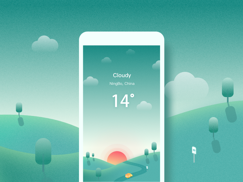 Weather&Cloudy by Mandy yo - Dribbble