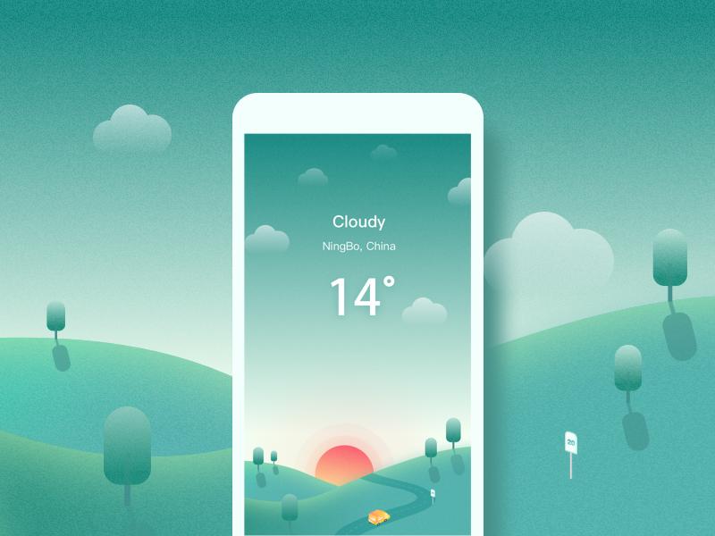 Weather&Cloudy by Mandy yo - Dribbble