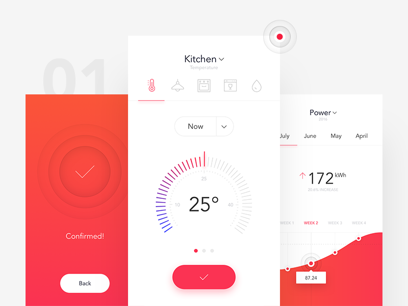 SmartHome App by Michal Parulski - Dribbble