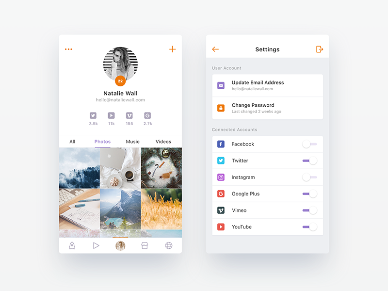 Upcoming Social App - WIP 3 by Nimasha Perera - Dribbble