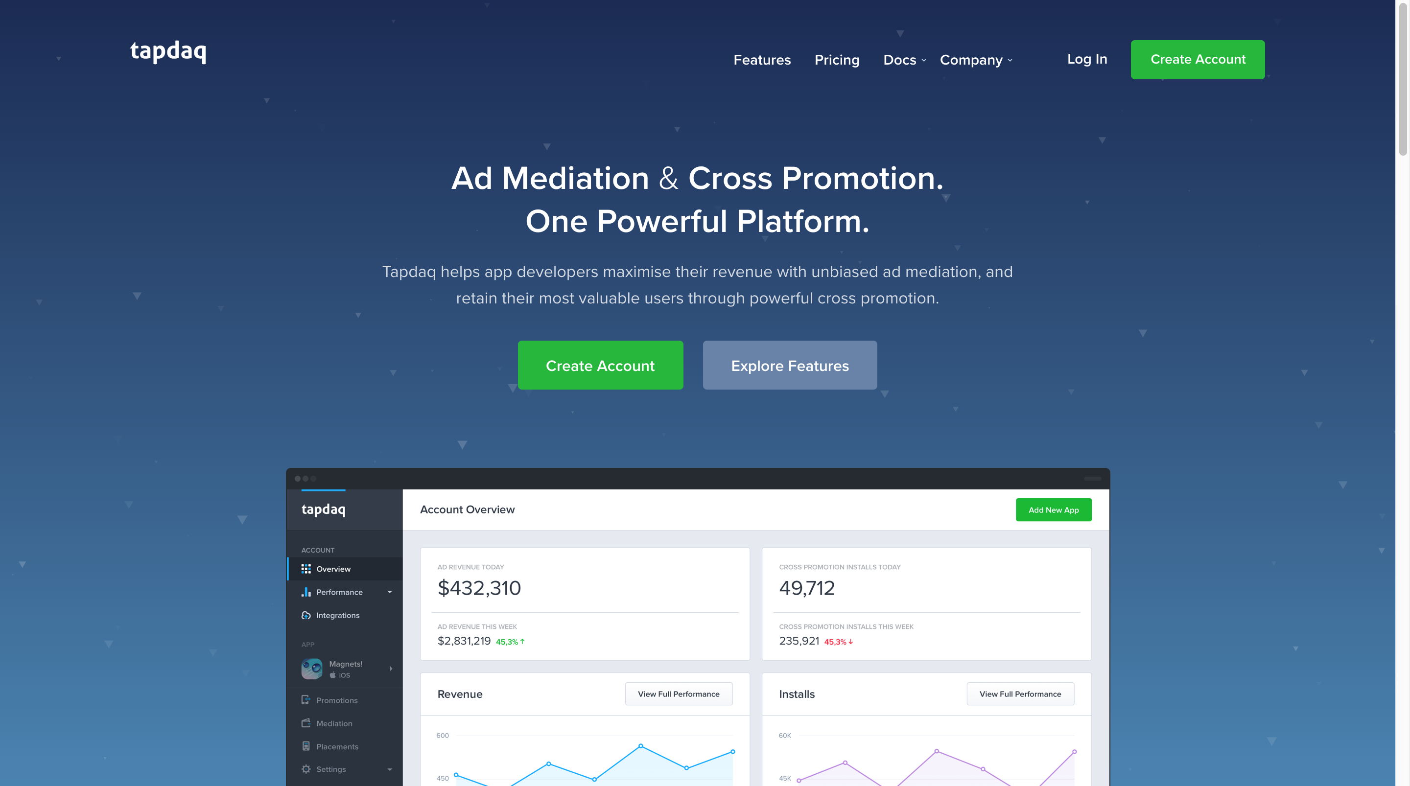 Tapdaq   Ad Mediation and Cross Promotion - One Powerful Platform